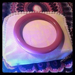 Pink Glass/Gemstone Bracelet